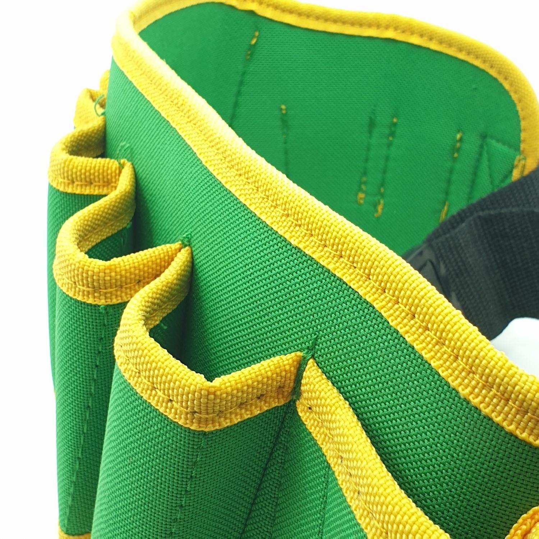 HUMMER กระเป๋าเครื่องมือช่างคาดเอส พร้อมเข็มขัด JR-YB06 สีเขียว-เหลือง JR-YB06 สีเขียว