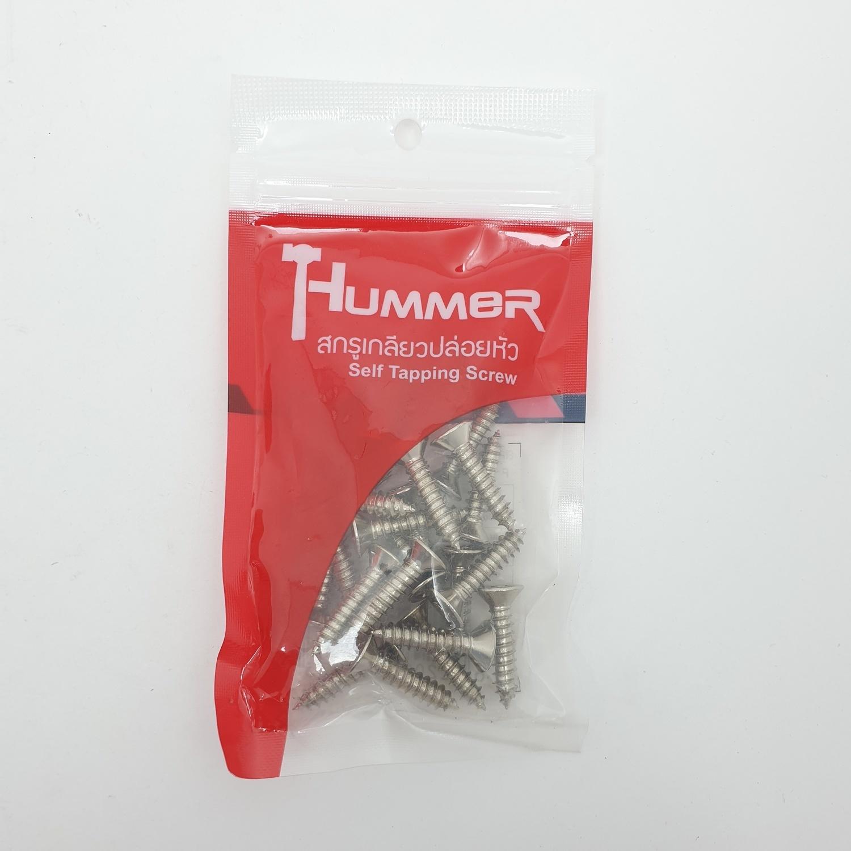 HUMMER สกรูเกลียวปล่อยหัว 12x1นิ้ว (25ตัว/แพ็ค) F-HM1210 สีโครเมี่ยม