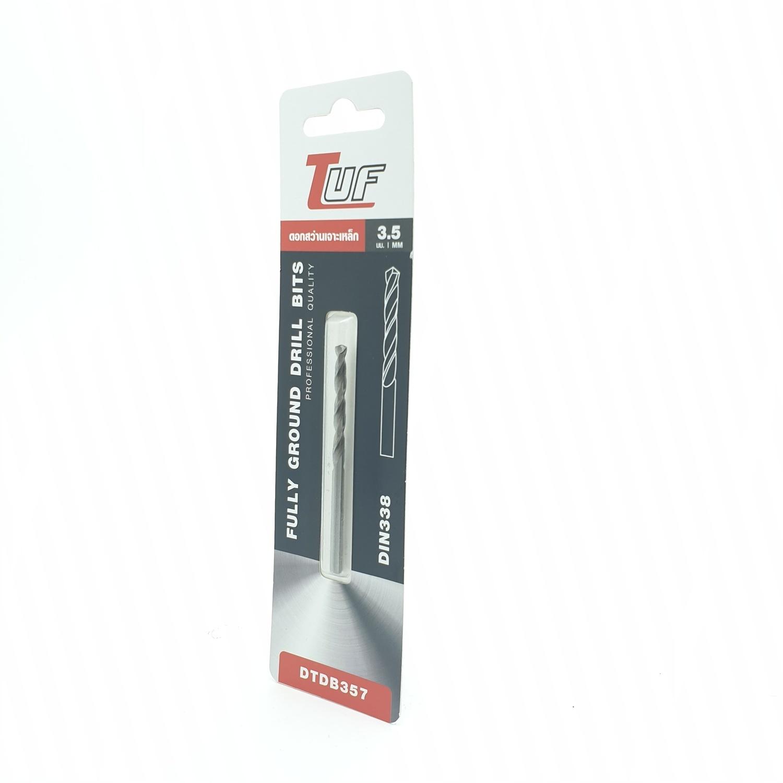 TUF ดอกสว่านเจาะเหล็ก (มาตรฐานDIN338) รุ่น DTDB357 3.5mm