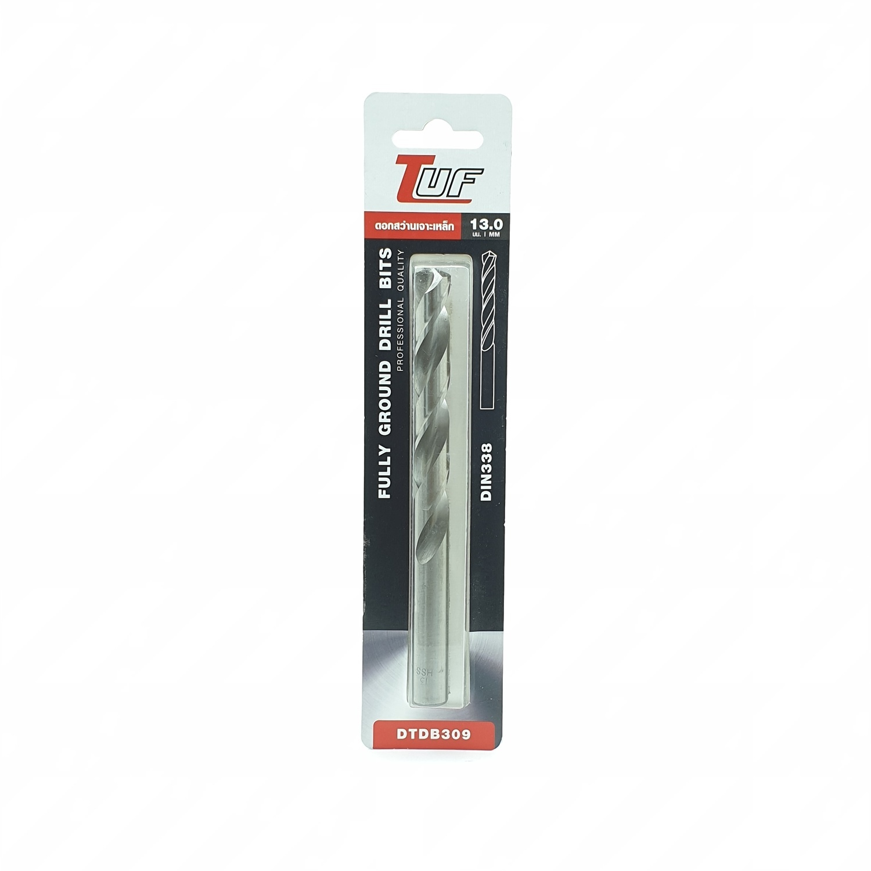 TUF ดอกสว่านเจาะเหล็ก (มาตรฐานDIN338)   DTDB309 13.0mm.