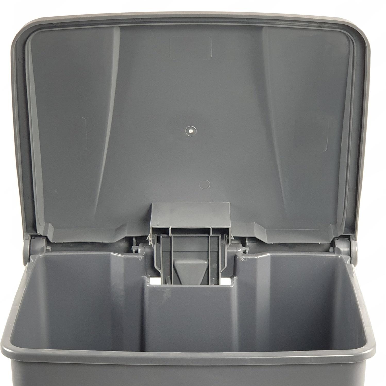 ICLEAN  ถังขยะเหยียบทรงเหลี่ยม บรรจุ 68 ลิตร  AF07317 สีเทา