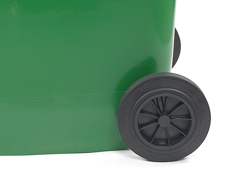 ICLEAN ถังขยะฝาเรียบ 240 ลิตร XDL-240G-11G สีเขียว