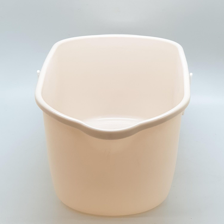 ICLEAN ถังทำความสะอาดม็อป ขนาด 24.5x46x18.5 ซม. UN9001 สีเบจ