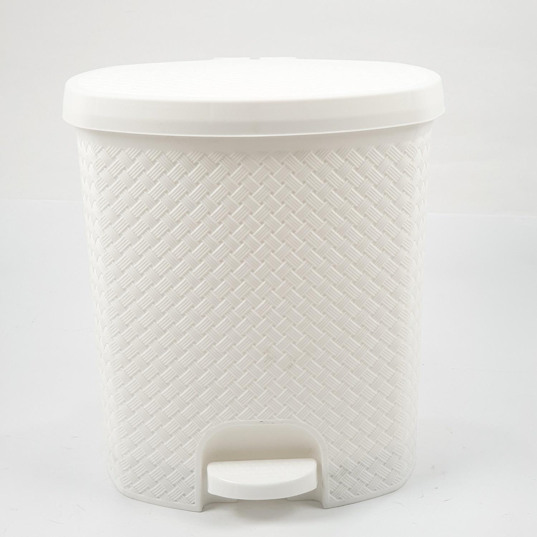 ICLEAN ถังขยะเหยียบ 13ลิตร ขนาด 29.5x28.5x32.2ซม. TG51840 สีขาว ลายสาน