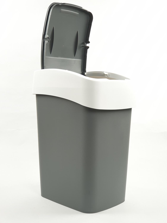 ICLEAN ถังขยะฝาสวิง 23ลิตร  TG59701 สีเทาอ่อน
