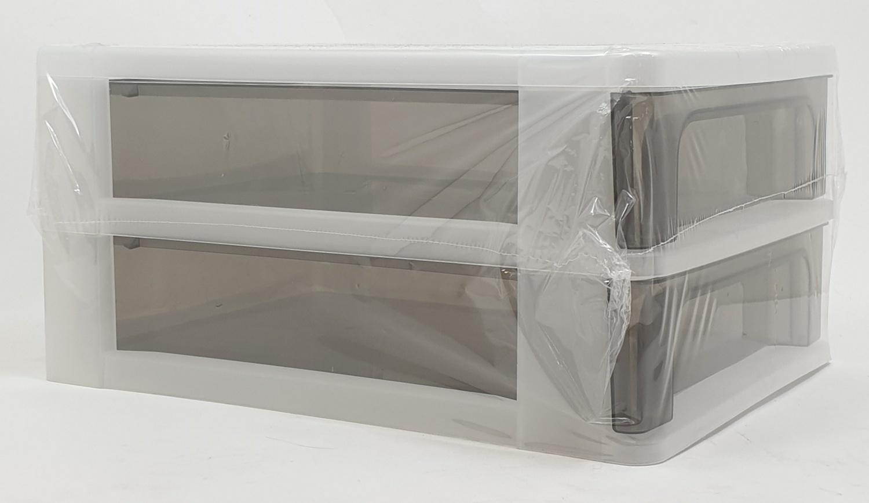 SMITH ตู้ลิ้นชักใส่เอกสาร 2 ชั้น ขนาด 35x26x17ซม. TG51272 สีใส
