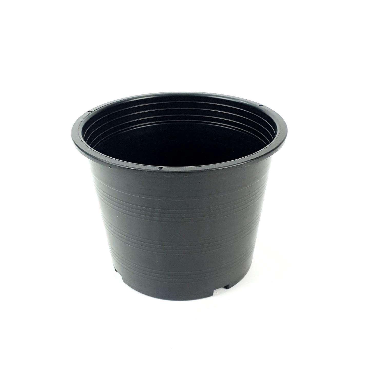กระถางพลาสติกดำปากตรง 5 นิ้ว ดำ