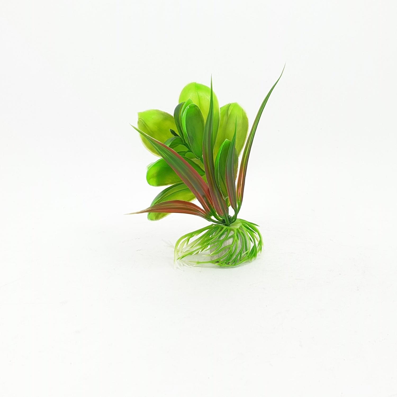 BOYU ต้นไม้เทียมประดับตู้ปลา สูงขนาด 4 นิ้ว AP-061 เขียว