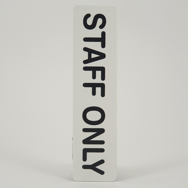 CITY ART ป้ายPP (STAFF ONLY)  ขนาด 16x4 ซม. SGB1103-16