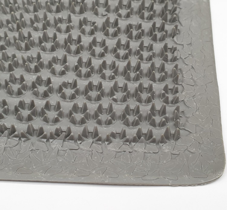 GRAFFE พรมดักฝุ่นกันลื่น ขนาด 40x60ซม. หนา 1มม. PGM9100GR สีเทา