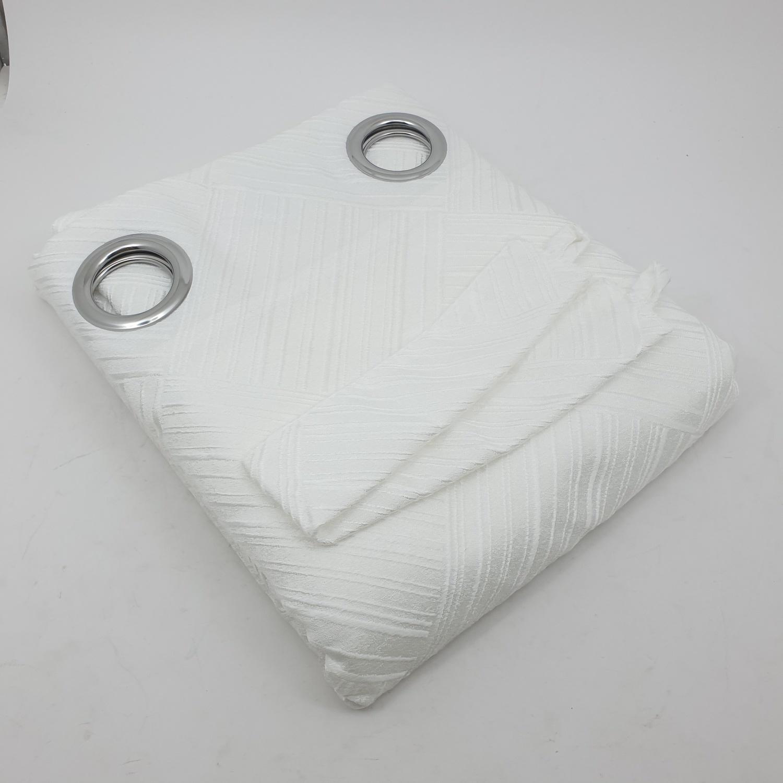 Davinci ผ้าม่านประตูพิมพ์ลาย ขนาด 140x240ซม.   A72016AW#1D  สีขาว