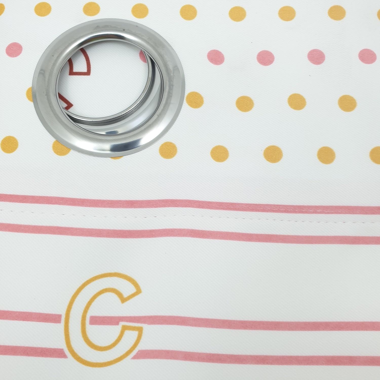 Davinci ผ้าม่านหน้าต่างพิมพ์ลาย ขนาด 150*160 cm DM-BK105-PT036-2 สีชมพู