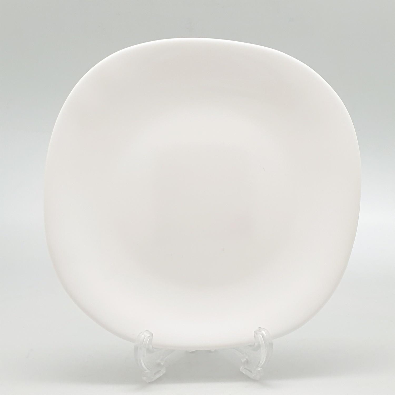 ADAMAS จานโอปอลทรงเหลี่ยม  ขนาด 8 นิ้ว FQP80 ขาว