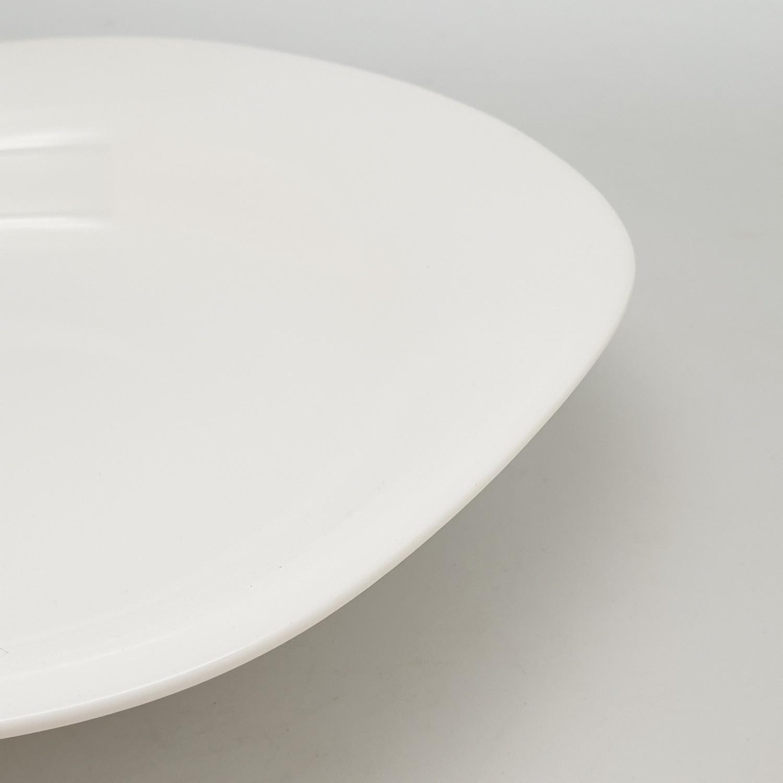 ADAMAS จานก้นลึกโอปอลทรงเหลี่ยม ขนาด 9 นิ้ว FSP90 ขาว