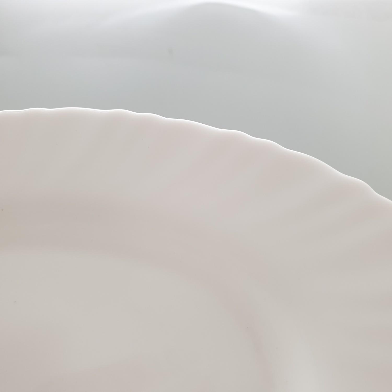 ADAMAS จานเปลโอปอลขอบริ้ว ขนาด 8 นิ้ว HYP80 สีขาว
