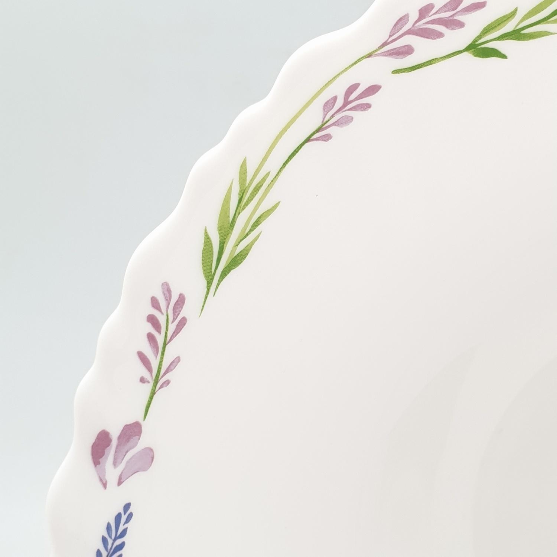 ADAMAS ถ้วยโอปอลขอบริ้ว 8 HBDW80-500 สีขาว