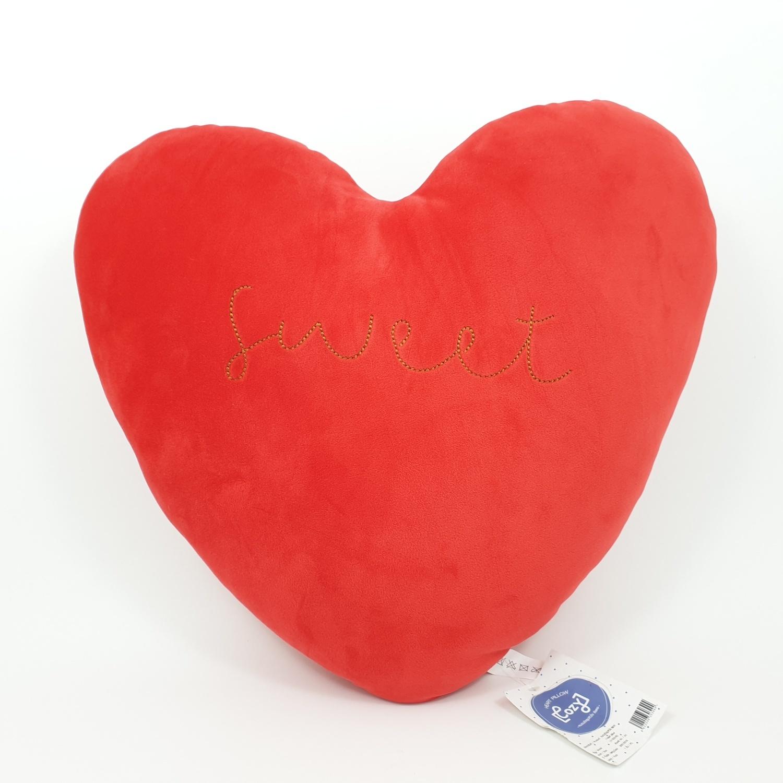 COZY หมอนอิงรูปหัวใจ  40x46 ซม. สีแดง