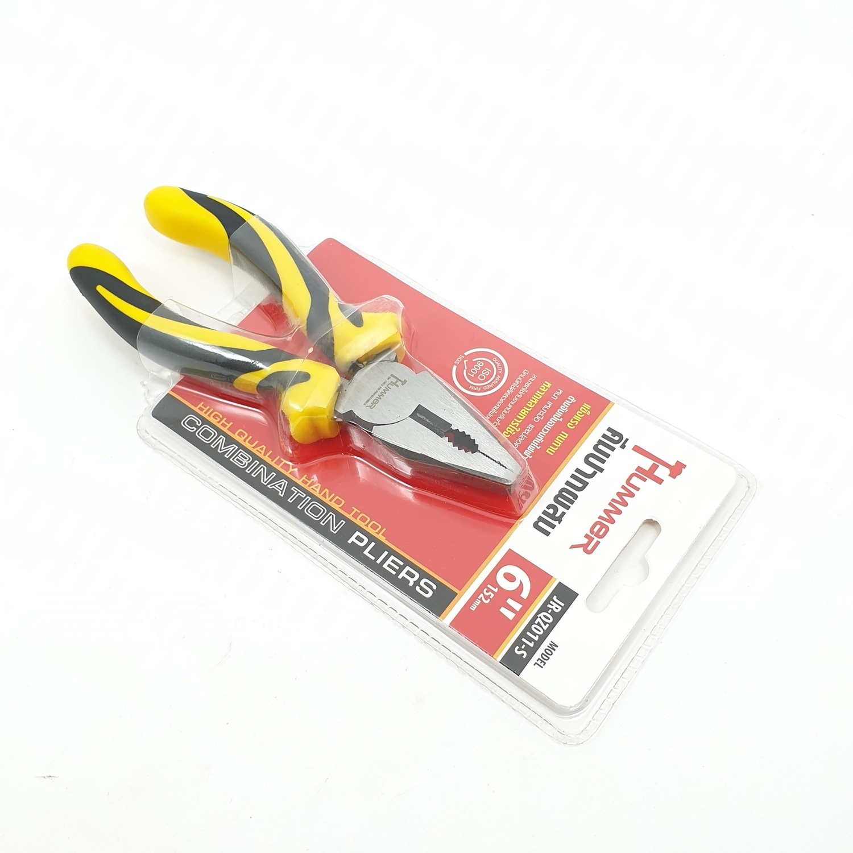 HUMMER คีมปากผสม ขนาด 6 JR-QZ011-S  สีโครเมี่ยม
