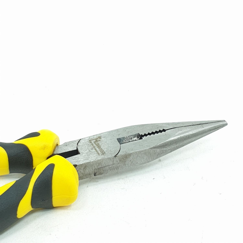 HUMMER คีมปากแหลม ขนาด7นิ้ว JR-QZ014-S 7 สีเหลือง