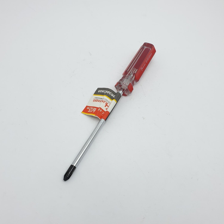 HUMMER ไขควงปากแฉกหัวแม่เหล็ก รุ่น WT-601 ขนาด6x125มม. WT-601 สีแดง