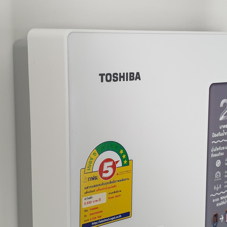 TOSHIBA เครื่องทำน้ำอุ่น 3800วัตต์  DSK38S5KW สีขาว