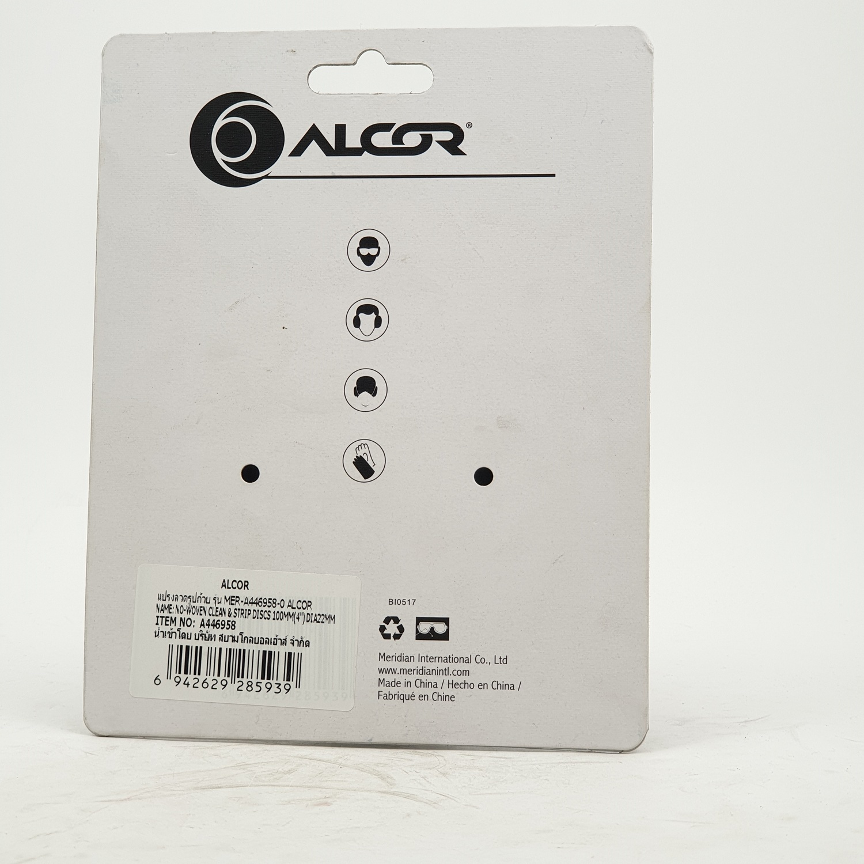 "ALCOR แผ่นขัดลอกสนิม 100MM. (4"") รูแกน 22MM. A446958 สีโครเมี่ยม"