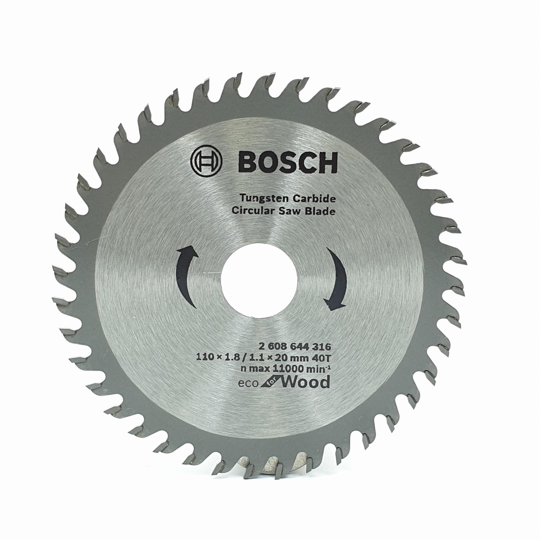 BOSCH ใบเลื่อยวงเดือน Eco ตัดไม้ 4 นิ้ว    40T สีโครเมี่ยม
