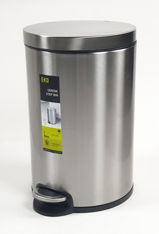 EKO ถังขยะขาเหยียบ ขนาด 20L สีเงิน EK9215MT