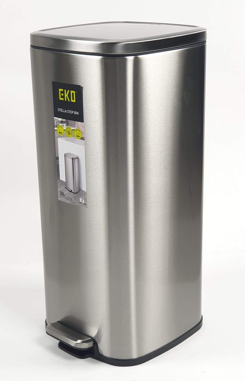 EKO ถังขยะขาเหยียบ ขนาด 30L สีเงิน  EK9384MT
