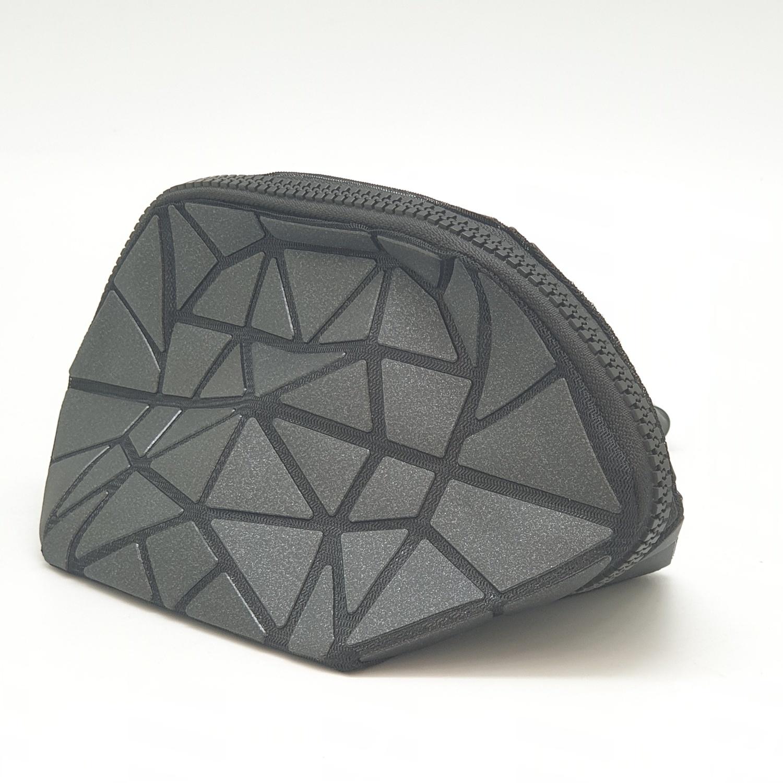 USUPSO กระเป๋าเครื่องสำอางค์ทรงเหลี่ยม - สีดำ