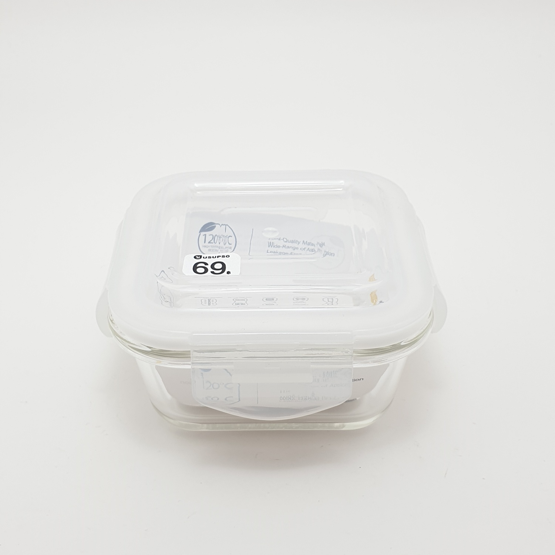 USUPSO USUPSO กล่องถนอมอาหารเนื้อแก้ว 320ml (#BD)  ขาว