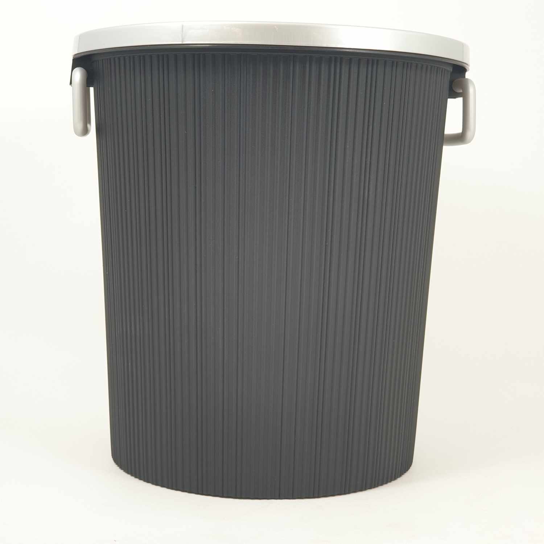ICLEAN ถังขยะพลาสติก  ความจุ 9ลิตร   ZJX002-BK  สีดำ