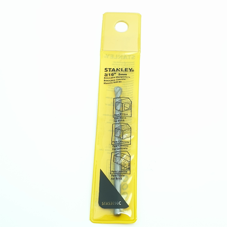 STANLEY ดอกเจาะคอนกรีตก้านกลม 5x85 มม. STA53050C สีเหลือง