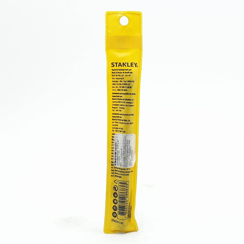 STANLEY ดอกเจาะคอนกรีต ก้านกลม 13x150 มม. 1/2x6 นิ้ว STA53113C สีเหลือง