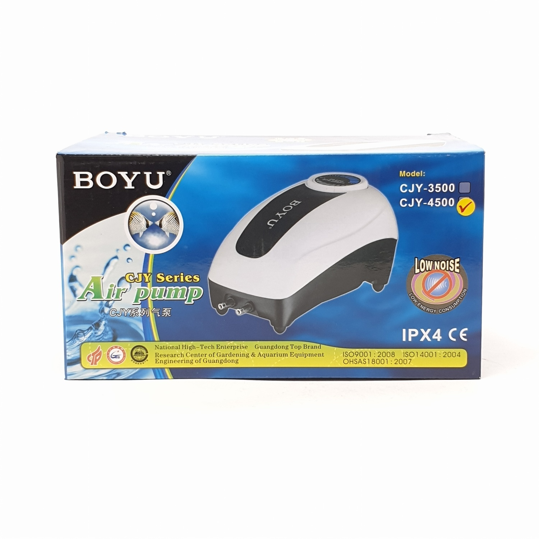 BOYU ปั้มลมตู้ปลาขนาด 4.8W  รุ่น CJY-4500 สีขาว CLY-4500 สีขาว