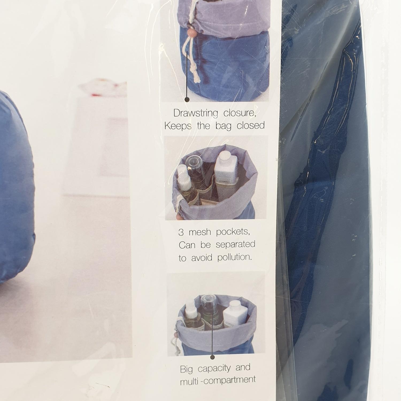 WETZLARS กระเป๋าจัดเก็บเครื่องสำอาง ขนาด Φ17x23 cm  ZRH-006-BB  สีฟ้า