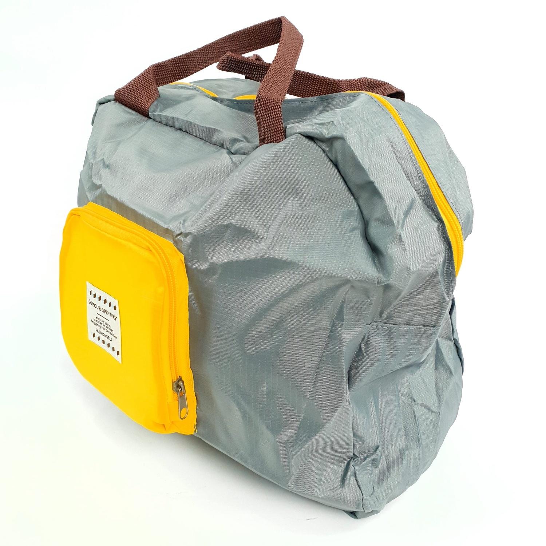 WETZLARS กระเป๋าอเนกประสงค์แบบพับได้ ขนาด 45x32 cm ZRH-027-GY สีเทา-เหลือง