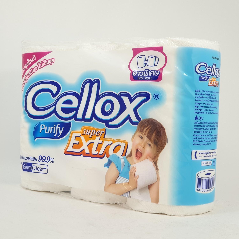 Cellox เซลล็อกซ์ พิวริฟาย ซุปเปอร์ เอ็กซ์ตร้า บิ๊กโรล 6 ม้วน
