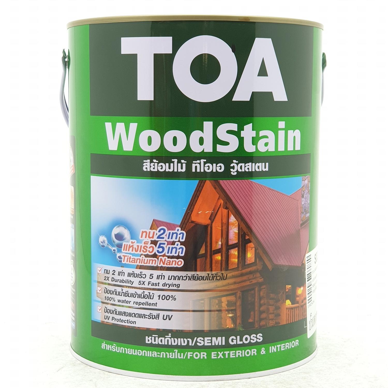 TOA Woodstain สีย้อมไม้กึ่งเงา ขนาด 1 กล. S01