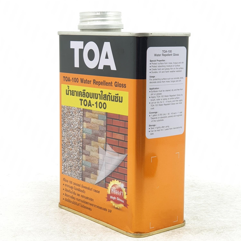 TOA ทีโอเอ 100 น้ำยาเคลือบเงาใสกันซึม 1/4กล.  GLOSS