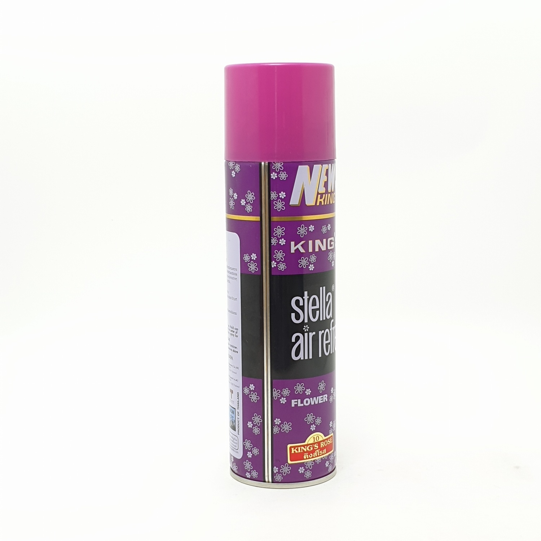 Kings Stella สเปรย์ปรับอากาศ คลาสสิค กลิ่นโรส  450 มล.  สีม่วง