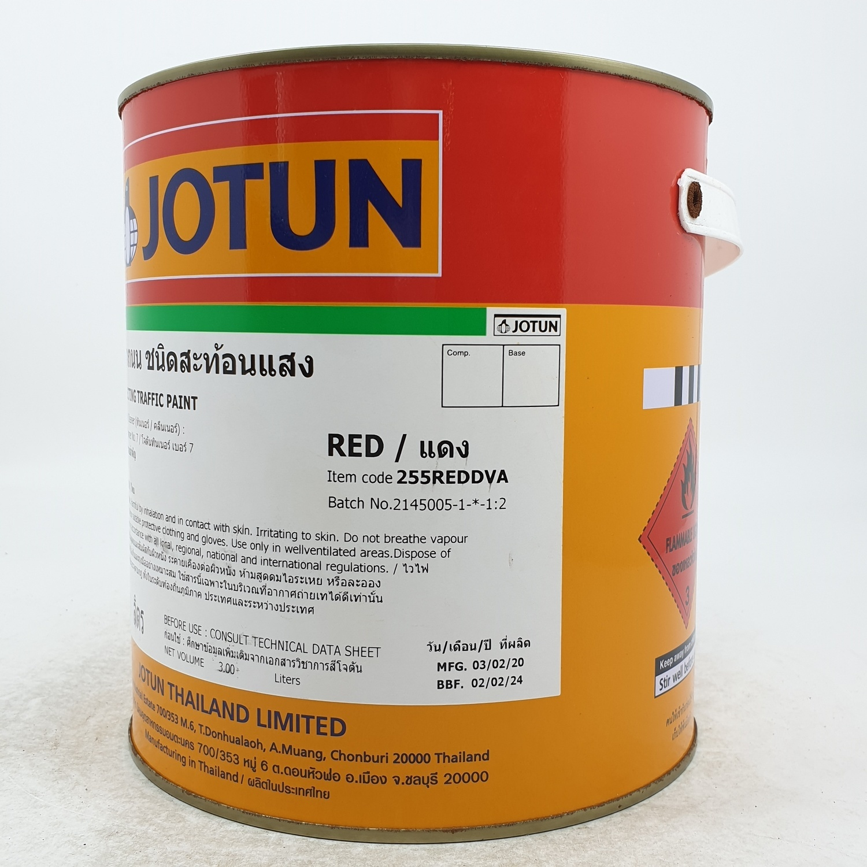 JOTUN สีจราจร แดงสะท้อนแสง 3L REFLECTING TRAFFIC PAINT RED     3L