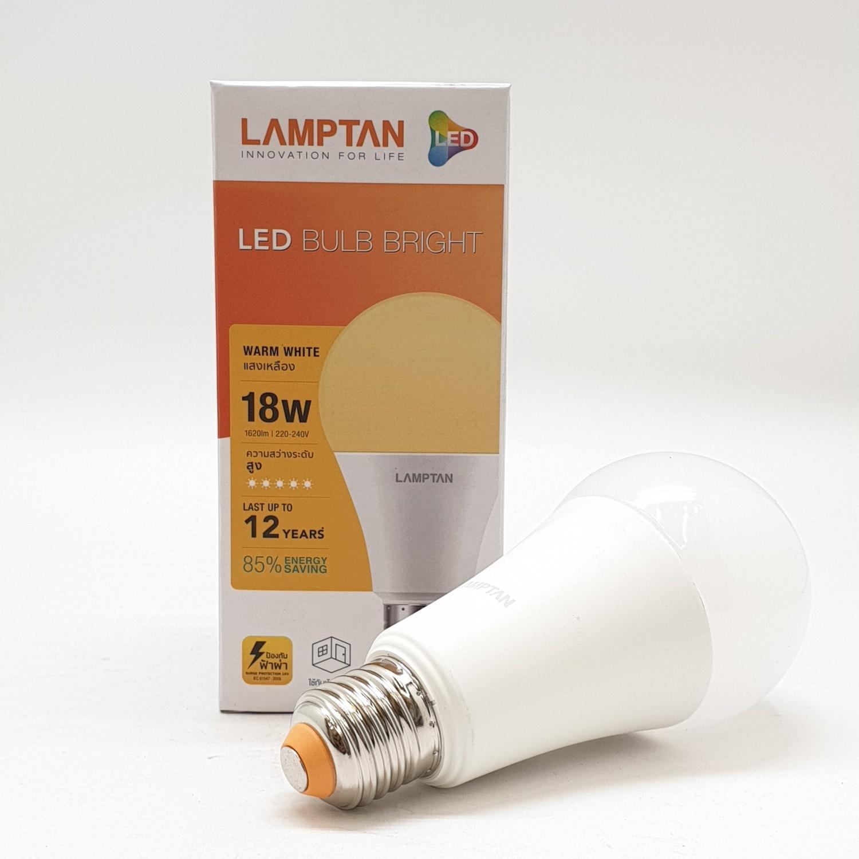 LAMPTAN หลอดไฟแอลอีดี แฟลช 18 วัตต์ วอร์มไวท์ LED FLASH