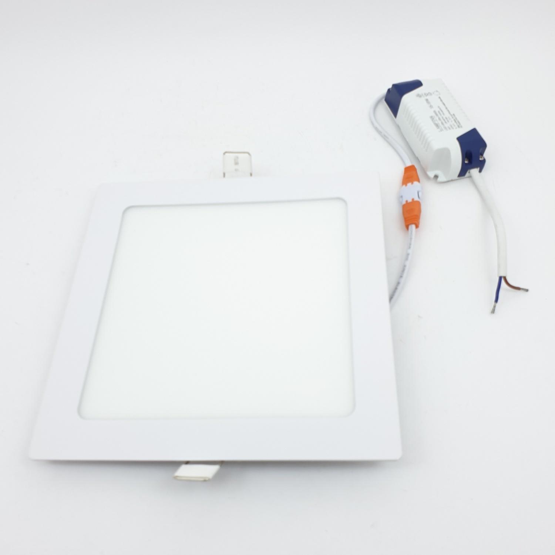 LAMPTAN โคมแอลอีดี ดาวน์ไลท์ 15W (4เหลี่ยม)  Ultra slim สีขาว
