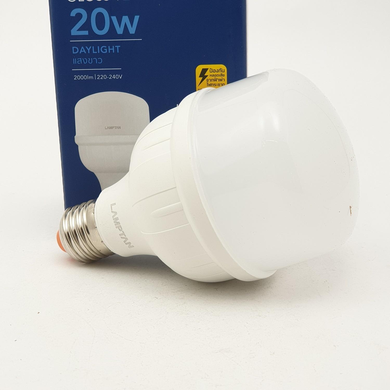 LAMPTAN หลอดไฟแอลอีดี อีโค ไฮวัตต์ 20 วัตต์ แสงเดย์ไลท์   High Watt สีขาว