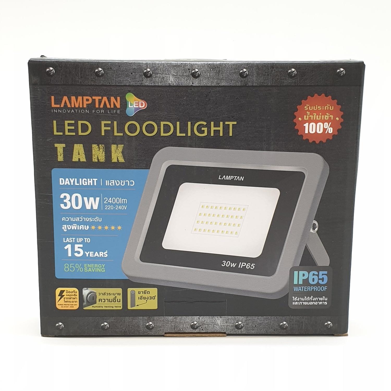 LAMPTAN โคมไฟแอลอีดีฟลัทไลท์ Gloss 30w แสงเดย์ไลท์ สีดำ