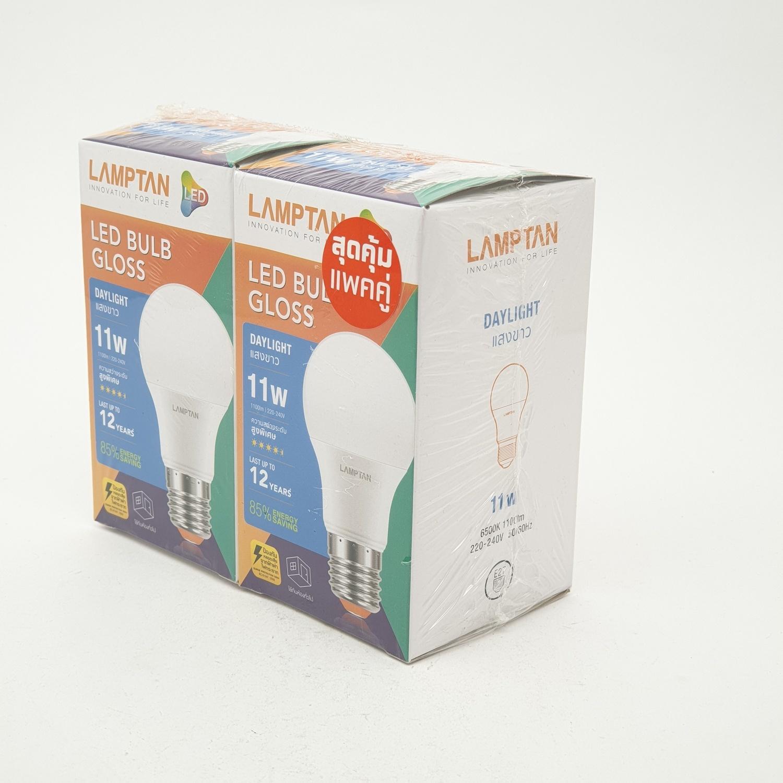 LAMPTAN หลอดไฟแอลอีดี กลอสส์  11 วัตต์  แสงเดย์ไลท์ GLOSS สีขาว
