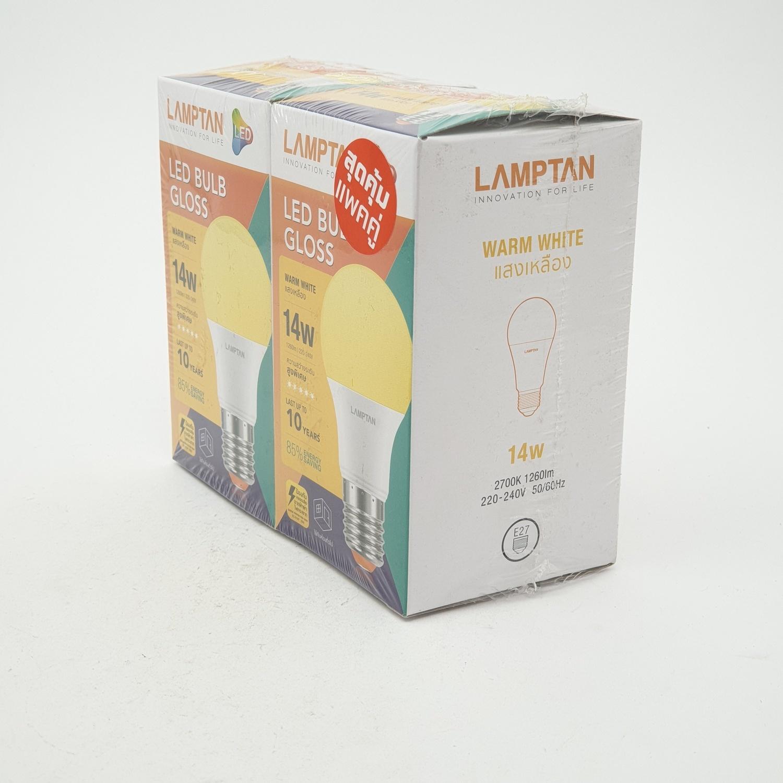 LAMPTAN หลอดไฟแอลอีดี กลอสส์  14 วัตต์  แสงวอร์มไวท์ BULB