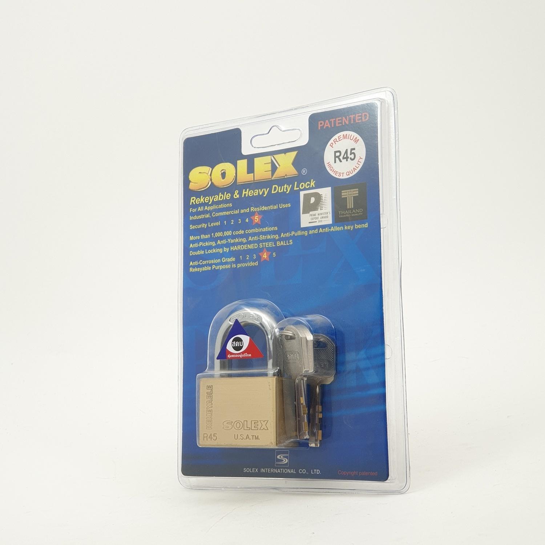 SOLEX กุญแจคล้อง 45 มม. - สีทอง