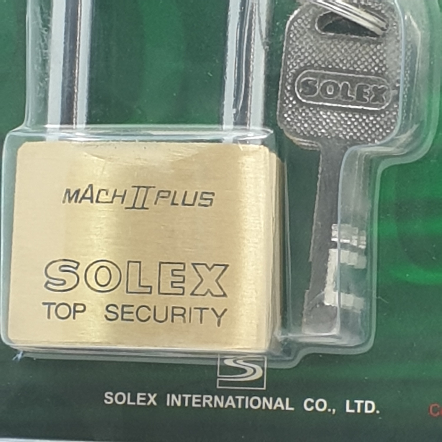 SOLEX 40 mm key padlock MACH II L 40MM  สีทอง